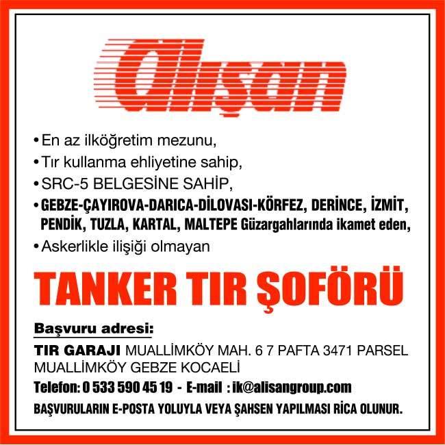 tanker tır şoförü aranıyor, tanker tır şoförü iş ilanları, tanker tır şoförü arayanlar, tanker tır şoförü
