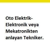 tekniker aranıyor, oto elektrik teknikeri iş ilanları, oto elektronik teknikeri arayan, mekatronik teknikeri ilanları istanbul, oto elemanı arayan, oto elemanı iş ilanları sayfası
