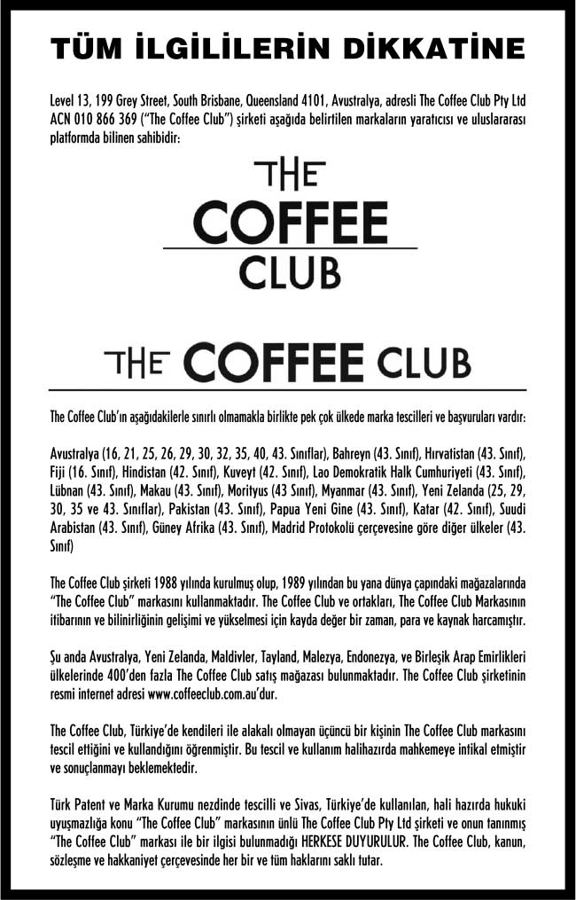 The Coffee Club Duyuru