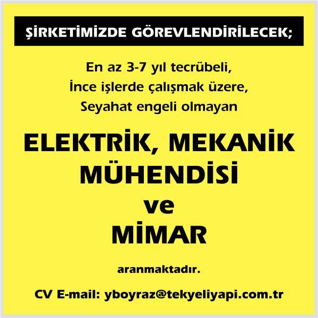 acele mimar aranıyor, istanbul mimar mühendis iş ilanları, deneyimli mimar arayan, mimar iş ilanları, elektrik mühendisi iş ilanları istanbul, elektrik mühendisi iş ilan sayfası, mekanik mühendisi arayanlar, mekanik mühendisi eleman ilanları, mekanik mühendisi iş ilanları