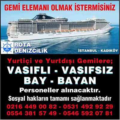 Rota Denizcilik - İş ilanı, istanbul vasıfsız iş ilanları