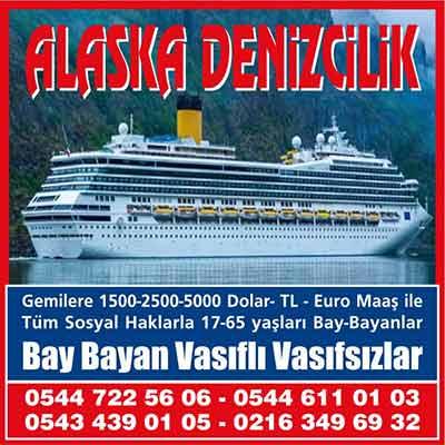 Alaska Denizcilik - İş ilanı, istanbul vasıfsız iş ilanları