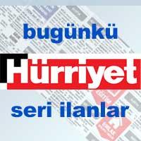 Bugünkü Hürriyet gazetesi Bursa iş ilanları, eleman arayanlar, seri ilanlar